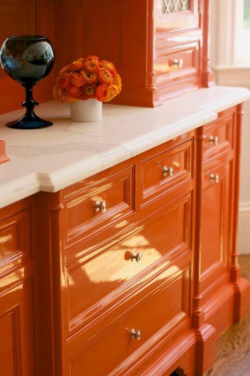 orange-lacquer-cabinets