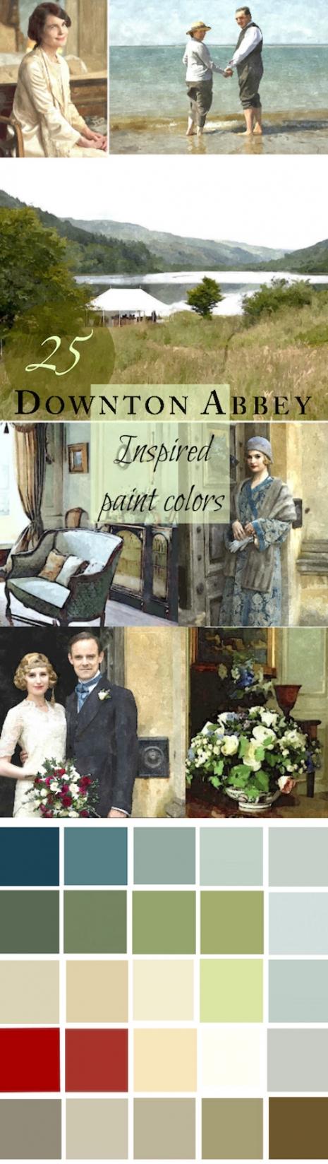 A 25 Color Whole House Paint Palette