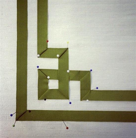 greek key trim diagram roman shade