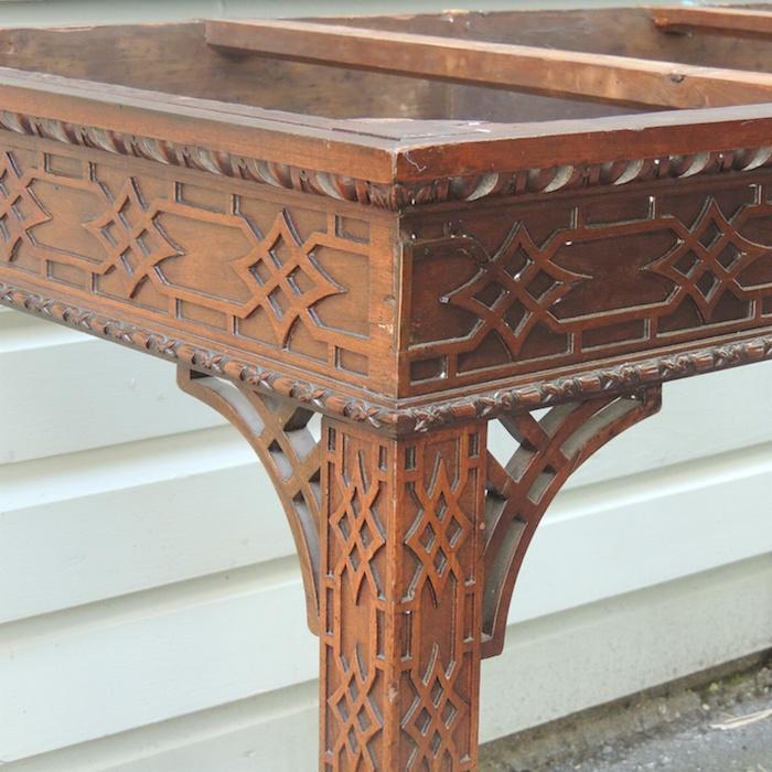 blind fretwork table david skinner antiques