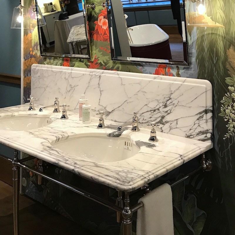 high-end bathroom Drummonds showroom in NYC