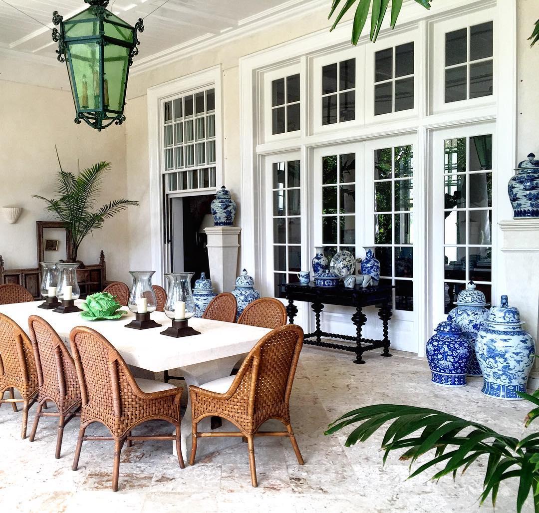 Bunny Williams Home Punta Cana La Colina Outdoor Dining Room