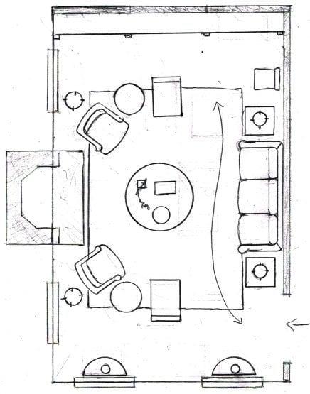 living room floor plan variation - chairs - sofa