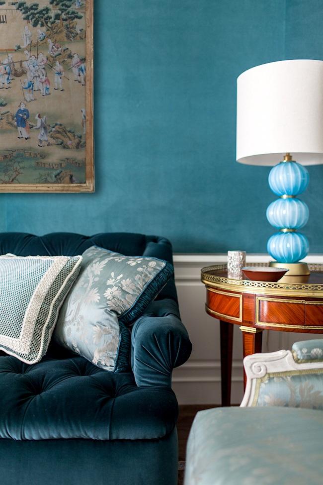 Nelson hancock interiors_Analagous color scheme colorful home decor vignettes