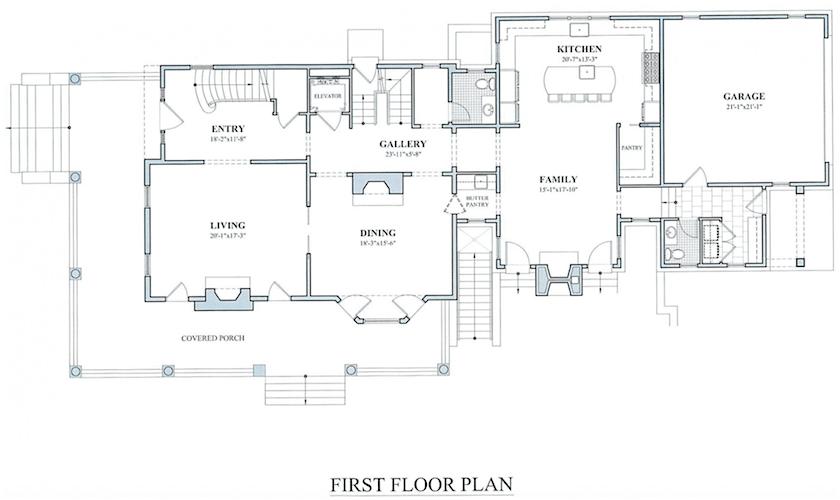 303 Millbank Ave. Greenwich - floor plan - color scheme