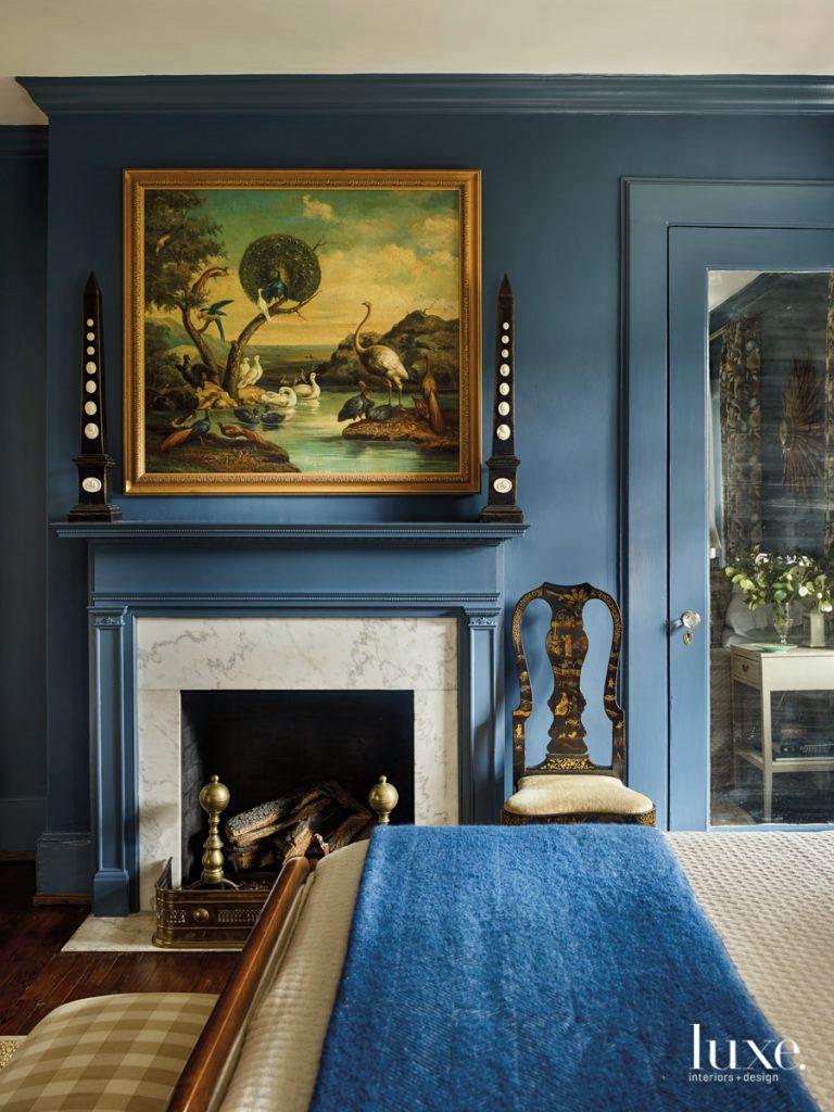 Luxe Magazine - Farrow and Ball - Stiffkey Blue - Benjamin Moore Gentlemans Gray-Living_History