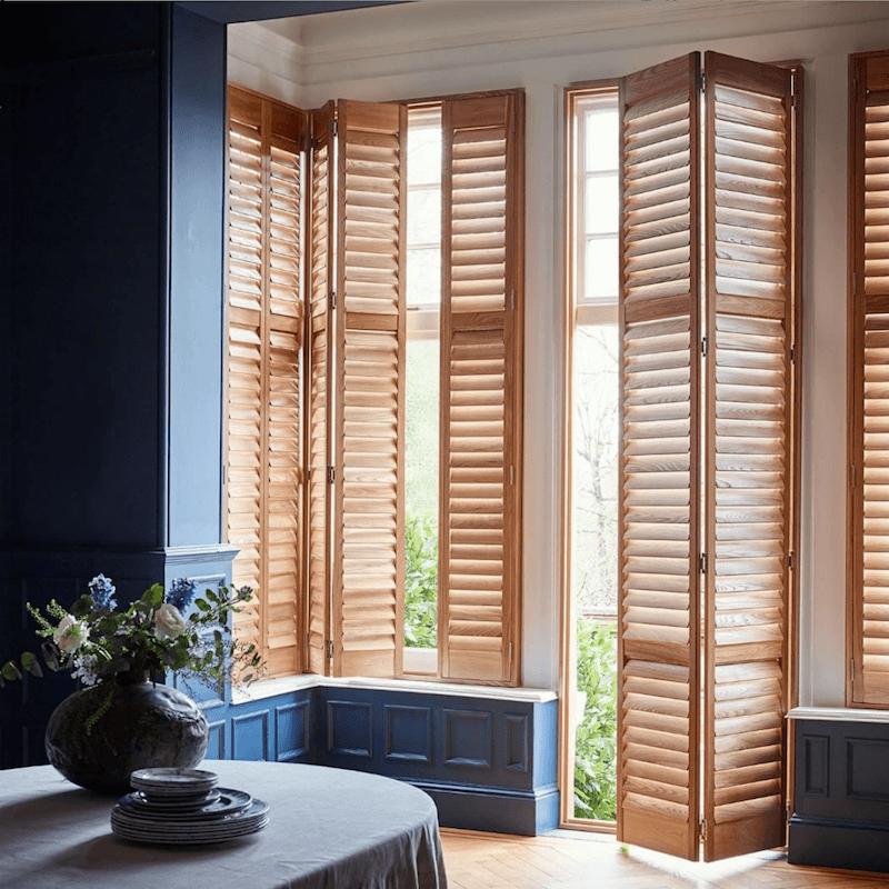 via shutterlyfabulous on instagram wood plantation shutters - interior window shutters
