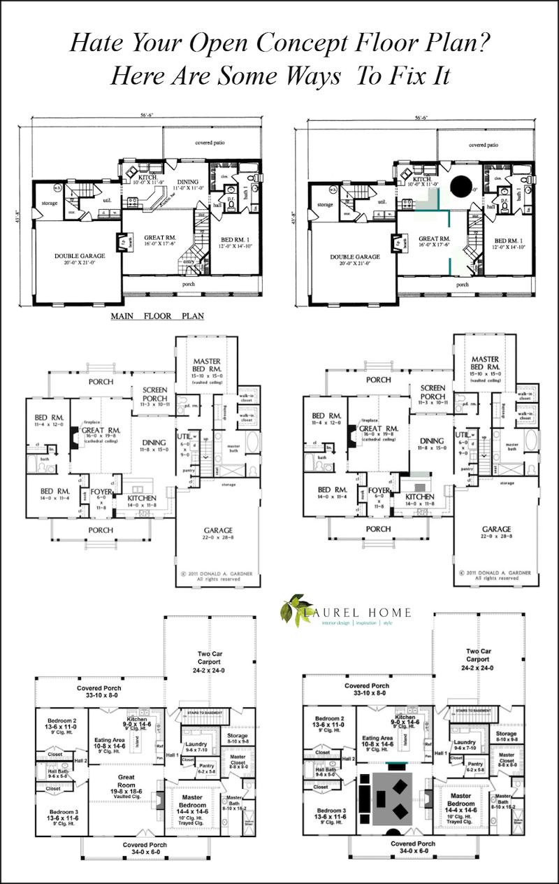Hate Your Open Concept Floor Plan Here S How To Fix It Laurel Home
