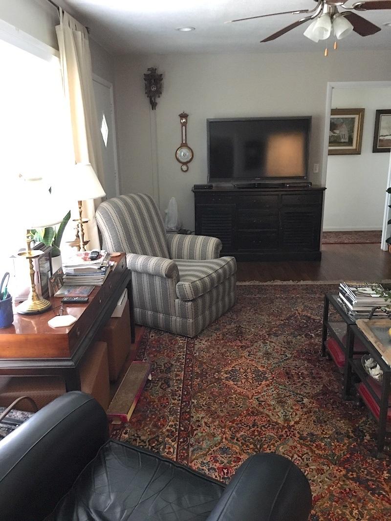small living room decor - TV wall