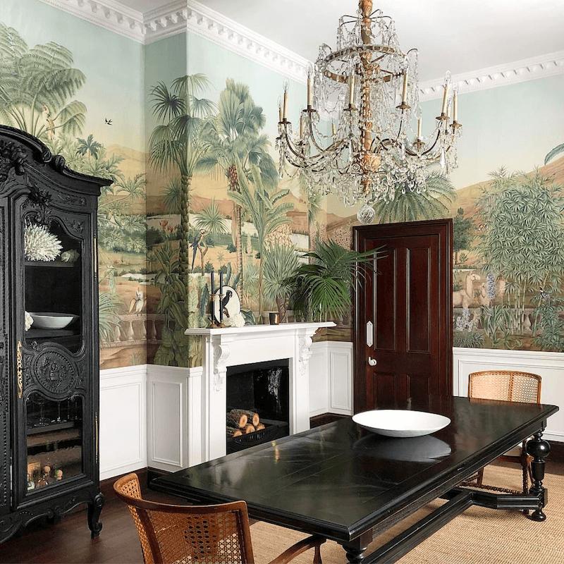 Steve Cardony dining room - mural