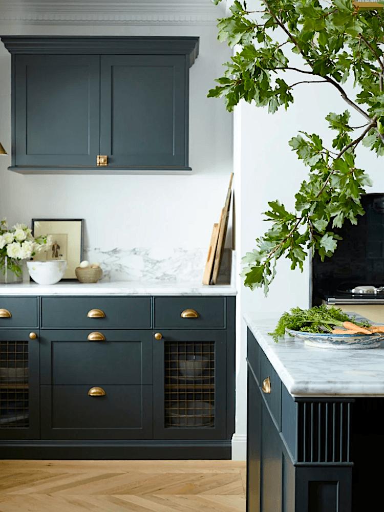 Steve Cordony dark green kitchen