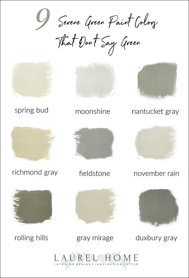 9 serene green Benjamin Moore paint colors