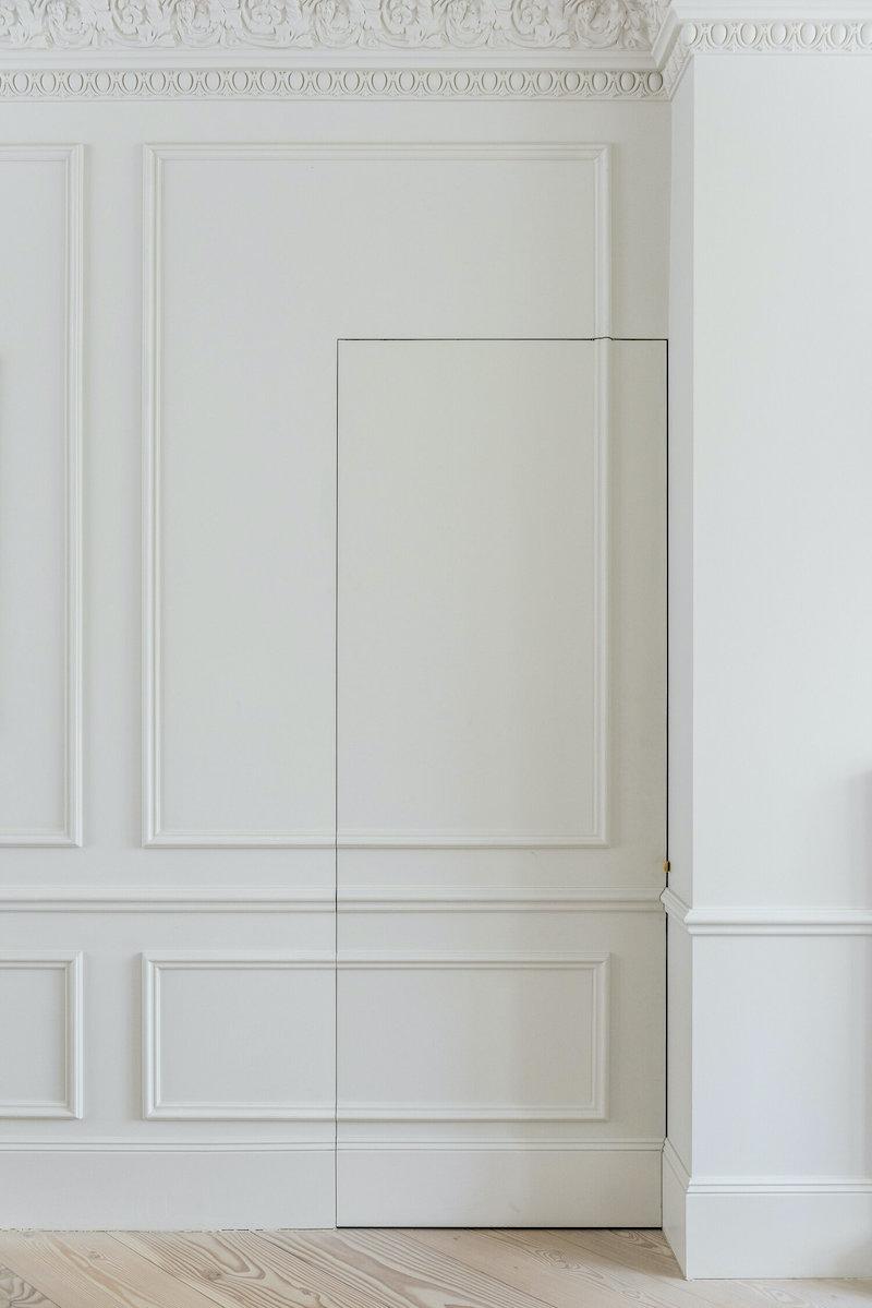 Undercover Architecture - jib door - moulding - hidden door