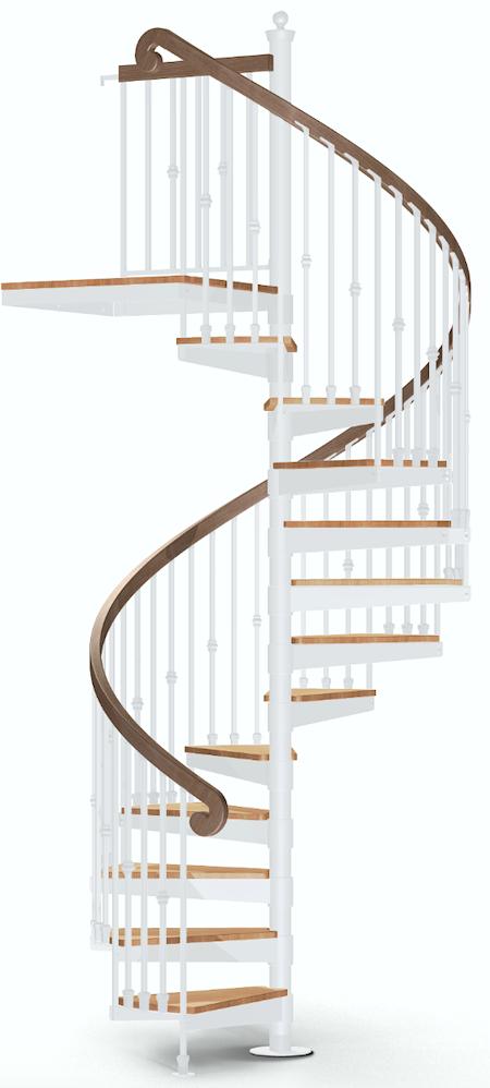 the iron shop white spiral staircase - renovation ideas